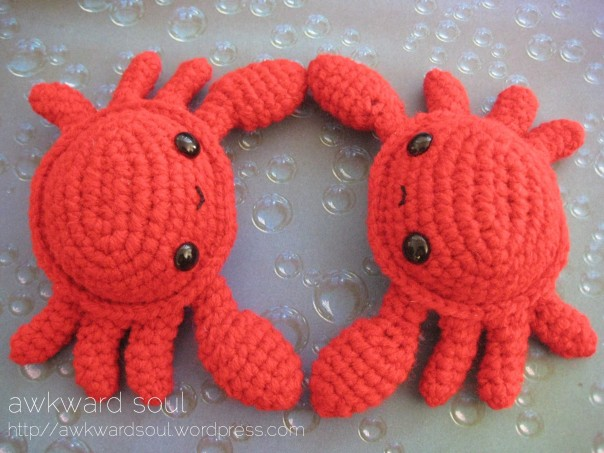 Crab Amigurumi pattner by AwkwardSoul (5)