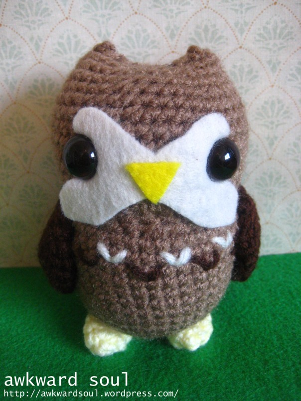 Owl Amigurumi Crochet pattern by awkward soul designs (10)
