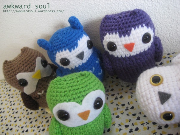 Owl Amigurumi crochet pattern by awkward soul designs