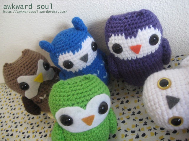 Owl Amigurumi crochet pattern by awkward soul designs