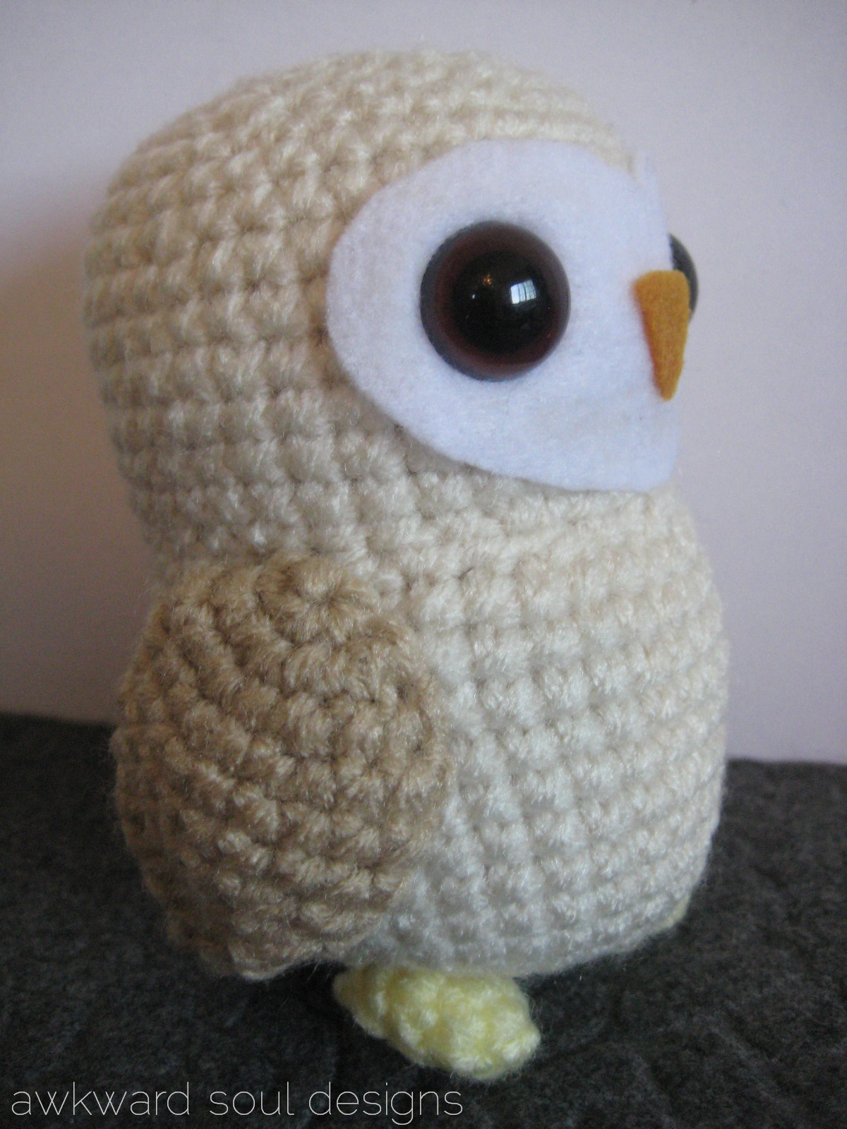 You Will Love This Large Crochet Barn Owl Pattern   Owl crochet ...   1600x1200
