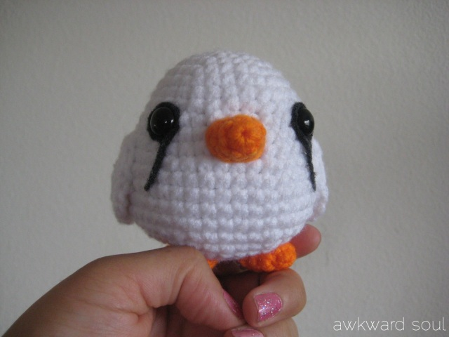 Amigurumi white finch by AwkwardSoul Designs (1)