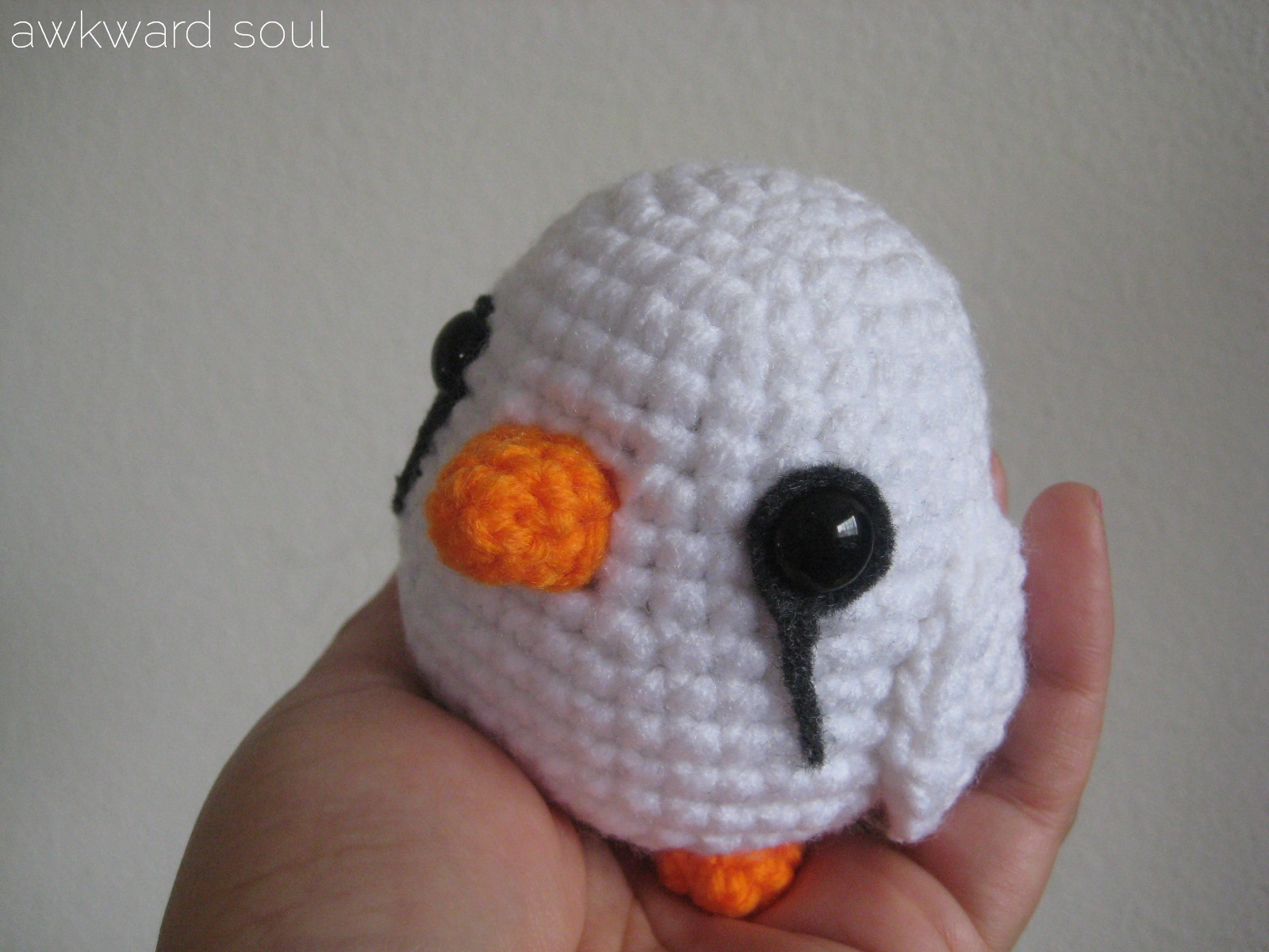 Wire Soul Amigurumi : Cutey White Finch Amigurumi Awkward Soul
